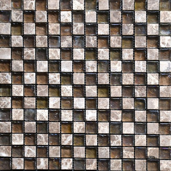 mosaico ilusion mix marble tahoe beige