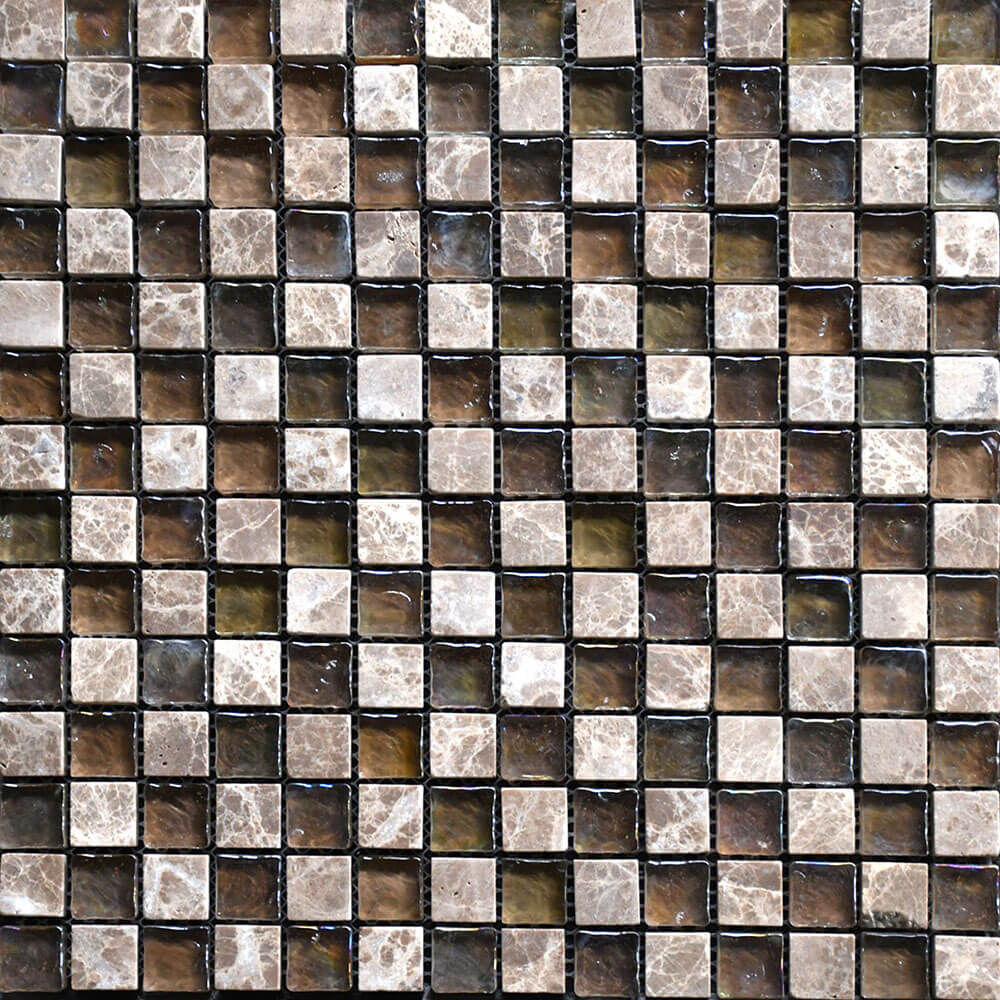 mosaico ilusion mix marble tahoe beige